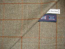 PURE NEW WOOL COUNTRY TWEED, SPORTING CLASSIC WINDOWPANE JACKETING FABRIC-2.05 m