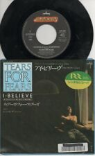 "TEARS FOR FEARS   Rare 1985 Japan Only 7"" OOP Mercury Pop P/C Single ""I Believe"""