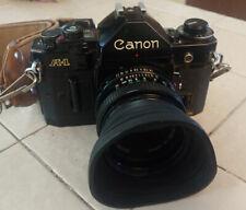 Canon A-1 35mm Camera w/ Case & Accessories