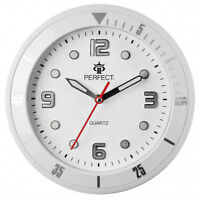 PERFECT Designer's Wall Clock Silent Sweep Second Hand - WHITE