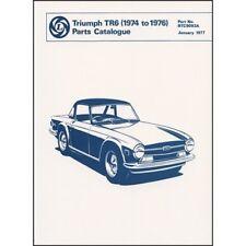 Triumph TR6 Spare Parts Catalogue 1974-1976 book paper car