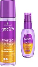 DUO Schwarzkopf Got2b TWISTED Anti-Frizz Styling pump spray 200ml + Oil 50ml