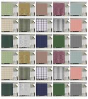 Classic Plaid Pattern Shower Curtain Fabric Decor Set with Hooks 4 Sizes
