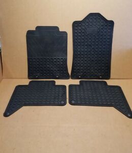2012-2015 OEM Toyota Tacoma Double Cab All Weather 4 Piece Floor Mat Rubber Set