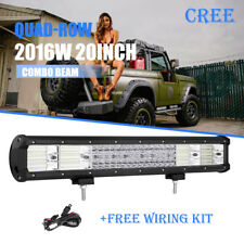 QUAD-ROW 20inch 2016W CREE LED Work Light Bar For Ford F150 F250 F350 F450 F550