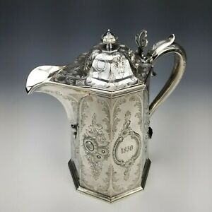 Rare American Coin Silver Double Walled Pitcher Tankard Ball Tompkins & Black