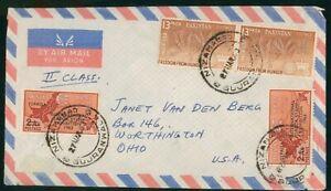 Mayfairstamps Pakistan 1963 Nizamabad to US Airmail cover wwo1745