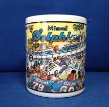 MIAMI DOLPHINS COFFEE MUG, 11 oz. CUP, FOOTBALL