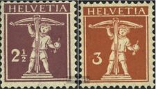 Schweiz 136-137 postfrisch 1915 Tell / Helvetia