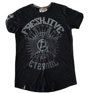 Freshjive size Small S Mens 100% Cotton Black TShirt