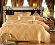 BN Luxury Yellow Satin New 4pc Duvet Cover Set Bedding Set (king)