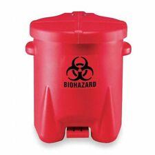 EAGLE 943BIO Biohazard Step On Waste Container,6 gal.