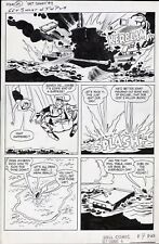 GET SMART #4 1967 ORIGINAL COMIC ART PAGE TV SHOW ADAPTATION MAXWELL SMART 1960s