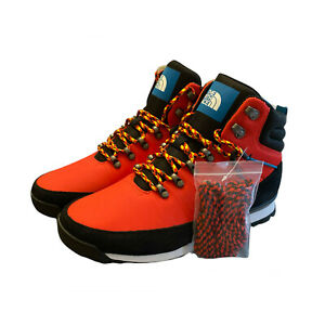 The North Face Back-To-Berkeley Hike Boots Fiery Red/TNF Black Men's Size 10