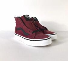 Vans Sk8-Hi Zip Tibetan Red Blac 00004000 k Sneakers Vn0A3276Ovw New W/Box Kids Sz 3