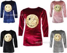 T-shirts, hauts et chemises à col rond manches 3/4 pour fille de 2 à 16 ans