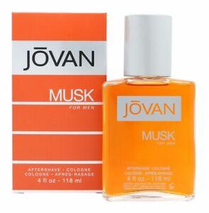 JOVAN MUSK FOR MEN AFTERSHAVE 118ML SPLASH - MEN'S FOR HIM. NEW. FREE SHIPPING
