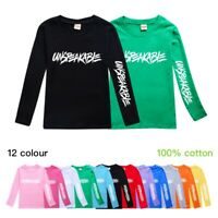 Unspeakable Kids Long Sleeve T-shirt YouTube Casual 100% Cotton Tee Top Gift