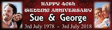 Wedding Anniversary Personalised Party Banner for your 20th, 30th, 40th, 50th