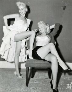 Vintage Photo 8.5x11 #17905  Busty Lovely 1950s Donna Brown & Bobbi Reynolds
