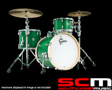 RRP$4800 GRETSCH 4PCE BROOKLYN SATIN EMERALD GREEN DRUM KIT MADE IN USA DRUMKIT