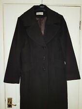 MICHAEL KORS Womens Lambs Wool Brown Coat Size 16  X Large