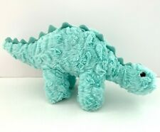 Manhattan Toy Company Stegosaurus Light Green Blue Dinosaur Stuffed Plush Animal