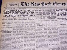 1941 OCT 27 NEW YORK TIMES - NAZIS RAM ROSTOV, ROOSEVELT APPEALS - NT 1085