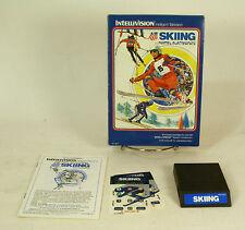 Vintage Boxed Intellivision Game US Ski Team Skiing Tested & Working