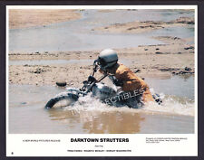 8x10 Lobby Card~ DARKTOWN STRUTTERS ~1975 ~Motorcycle stunt in water