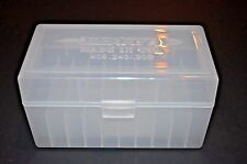 (2) 308/243  AMMO BOX / CASE PLASTIC STORAGE / BOX (CLEAR CLR) 243 308 BERRY'S