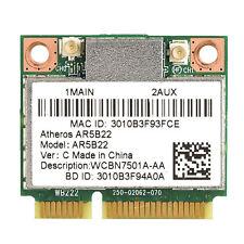 AR5B22 AR9462 Dual Band 2.4GHz 5GHz Wireless WiFi Bluetooth Half Mini PCI-e Card