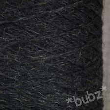 SOFT 4 PLY PURE WOOL CHARCOAL GREY 500g CONE 10 BALL YARN HAND MACHINE KNIT HALO