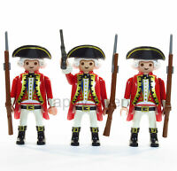 Playmobil 3x Redcoats Figures British Army Soldiers Guards Military