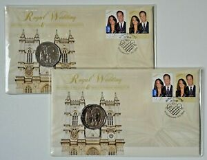 PNC 2011 Royal Wedding (William & Kate) $0.50 cent Coin & 2 stamps - 2 copies