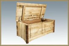 Solid Wood Toy Chest Amish Made Chests Log Cabin Blanket Hope Sitting Chests