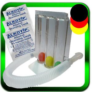 Atemtrainer 3 Kammer-System  Lungentrainer Einatmen +⭐️ 3 x Alkotip ►Händler◄