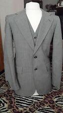 3 PC Cricketeer Grey 37 R mens Suit Pants Vest