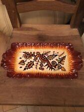 Quimper Antique Hand Painted Art Deco Tray Signed by Paul Fouillen Fait Main (E)