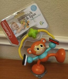 Infantino Stick and Spin High Chair Pal Monkey Toy for Babies & Toddlers Gift