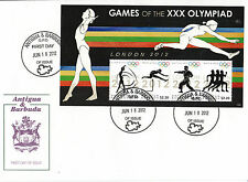Antigua & Barbuda 2012 FDC London Olympics 4v M/S Cover Gymnastics Martial Arts