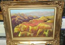 BLAKE MOUNTAIN CANYON LANDSCAPE LARGE OIL ON BOARD PAINTING