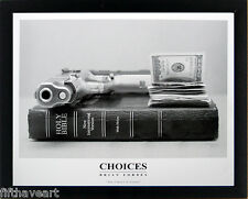 Choices Poster by Brian Forbes Custom Framed   A+Quality