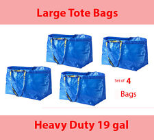 IKEA Large Bag Frakta 4 Heavy Duty Reusable Totes Shopping Laundry Recycle