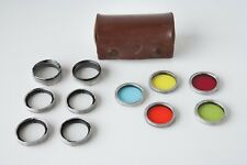 Rollei Filter Set 28.5 Bay I for Rolleiflex 3.5 Camera Models, Case