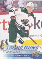 16-17 Upper Deck Joel Eriksson Ek UD Canvas Young Guns Rookie Wild 2016