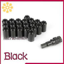 20 X BLACK STEEL WHEEL TUNER NUTS NUT M12x1.25