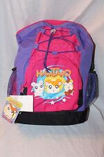 """New With Tags Hamtaro Large School Purple 12"""" x 16"""" Backpack With Water Bottle"""