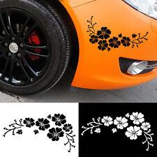 Fleur Vinyle Voiture graphiques des autocollants stickers fenêtre Décal 2PCS