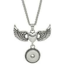 Fits Ginger Snap Ginger Snaps Pendant Angel Wing Heart Magnolia Jewelry 18mm